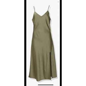 Green (Olive) Side Slit Dress